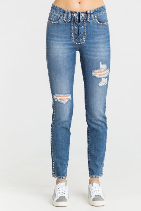 JEANSY 1981 LACE UP SKINNY FIT Guess