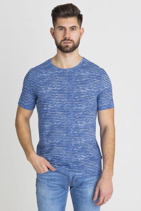 Granatowy t-shirt męski z nadrukiem  820934ca7b0