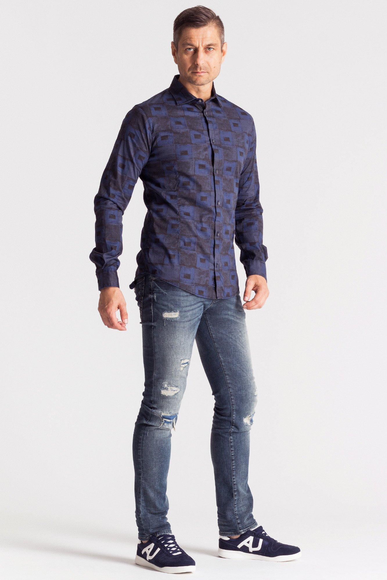 866436684 Bawełniana koszula męska ze wzorem szachownicy   Markowa odzież w ...