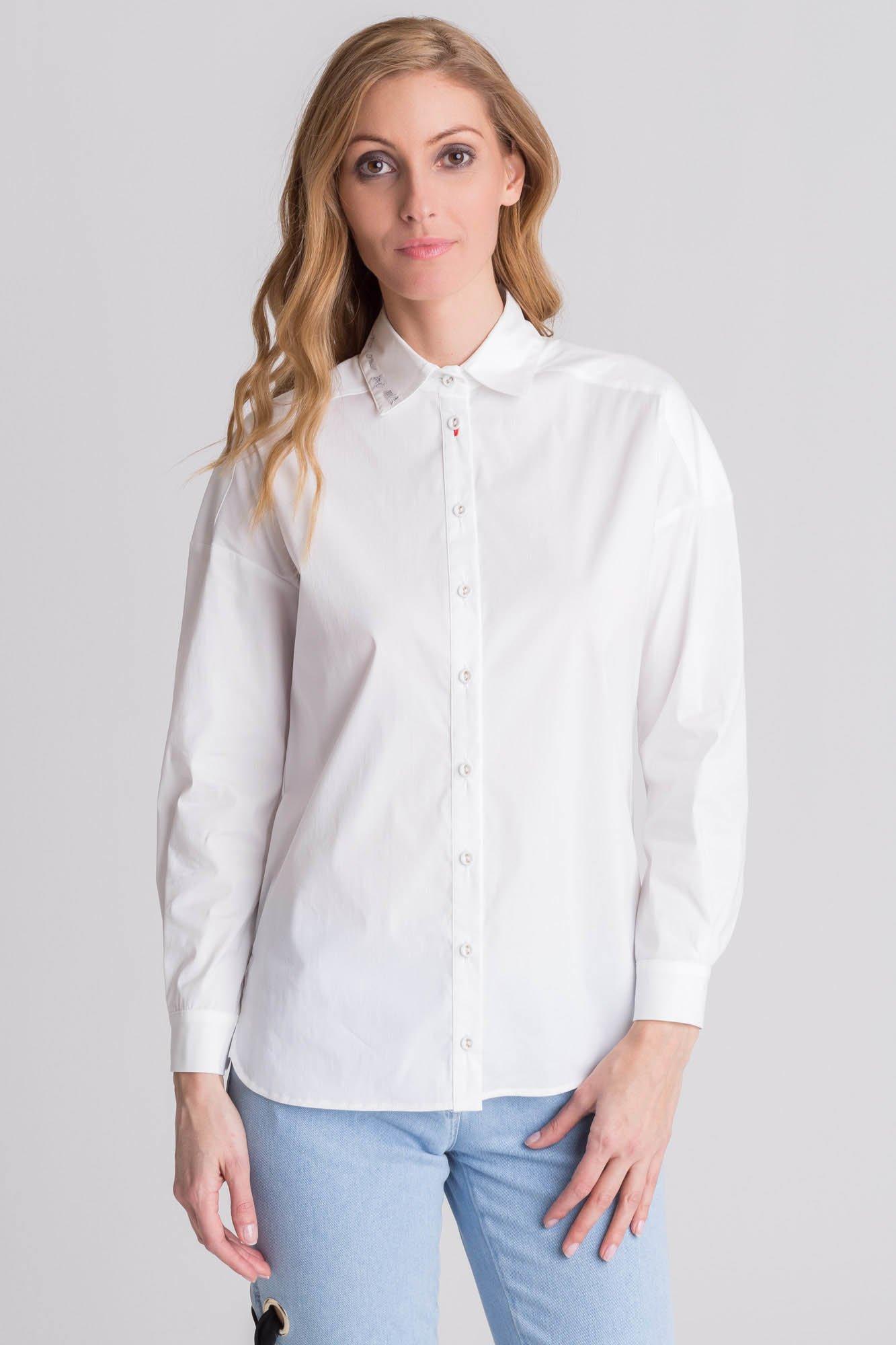 9a1d8b3d5ef4 ... Biała koszula damska z haftem ...