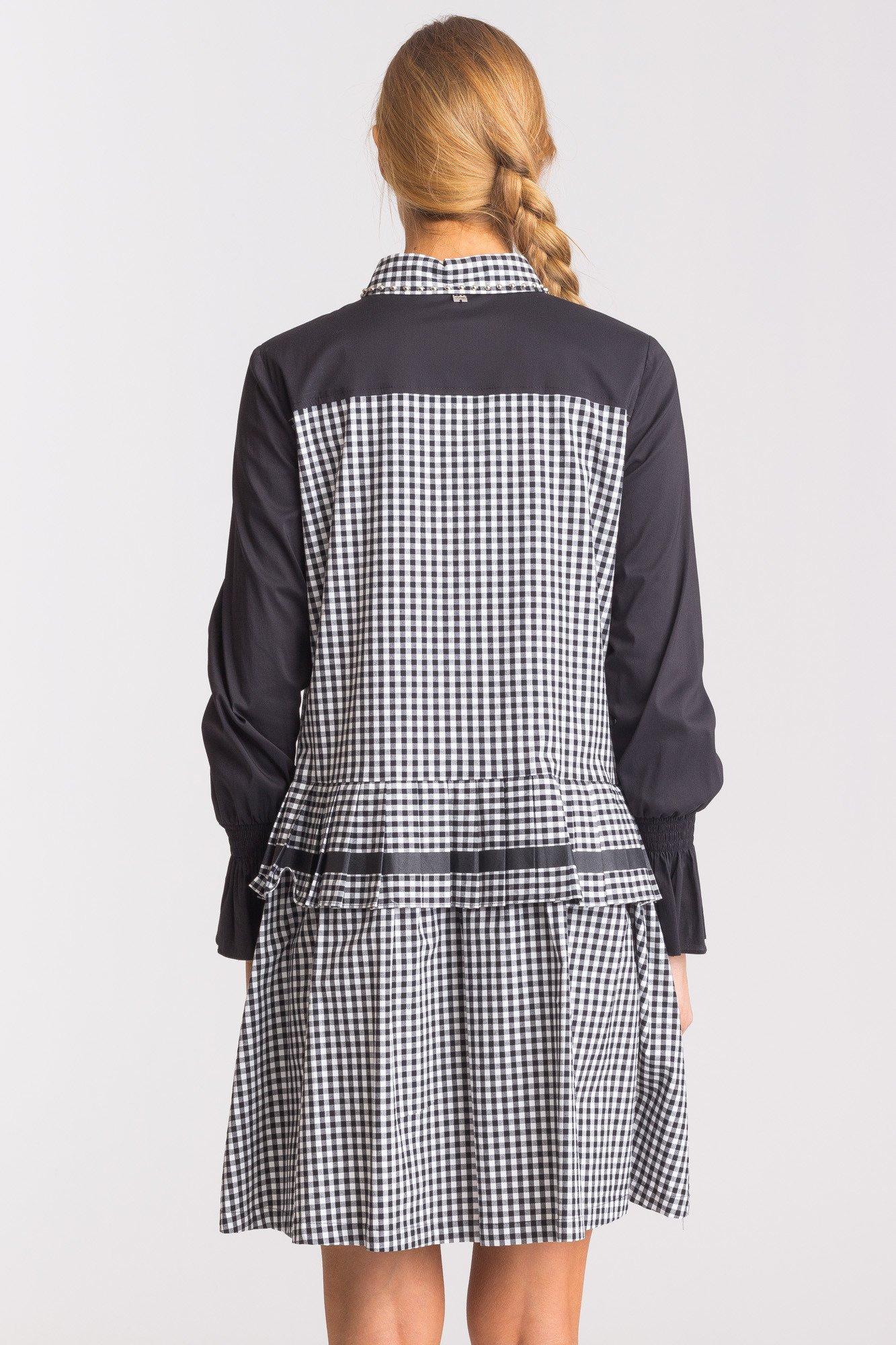 5142116919 ... Biało-czarna sukienka w kratkę My Twin ...