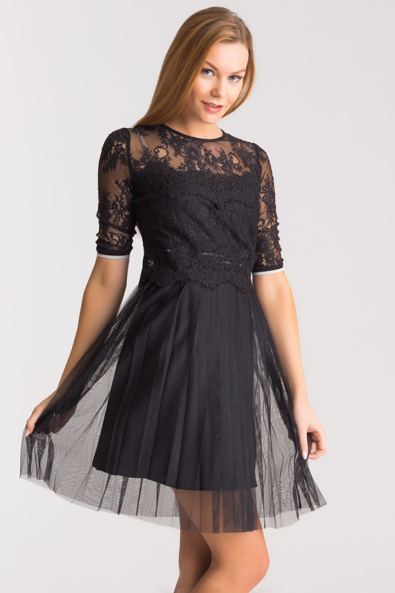 06bfde9dc0d07 Czarna koronkowa sukienka Mabelle   Markowa odzież w sklepie Velpa.pl