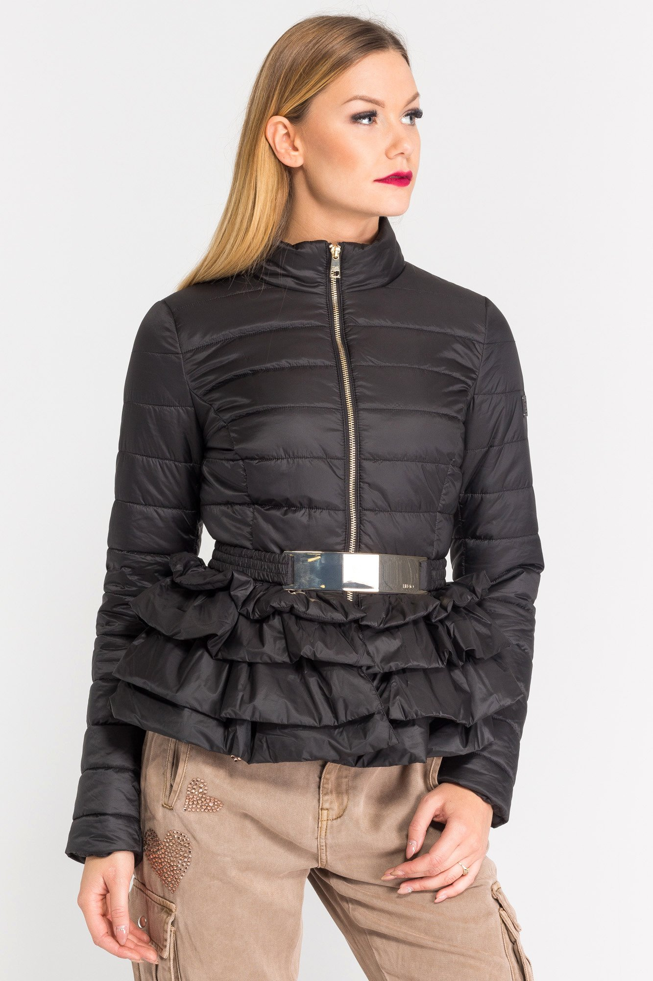 czarna kurtka z baskink� markowa odzież w sklepie velpapl