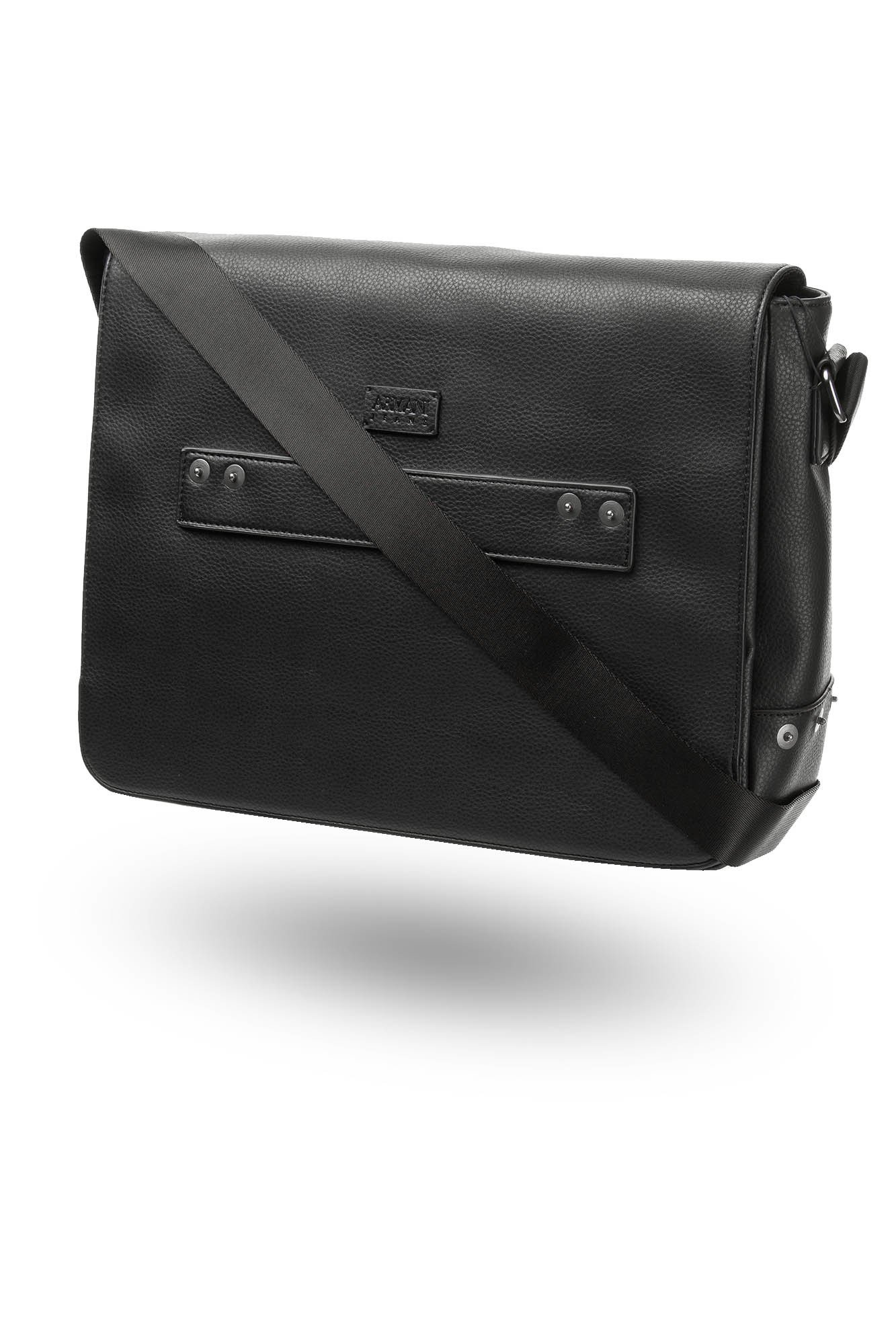 16b8b2ee61754 ... Czarna męska torba na laptopa ...