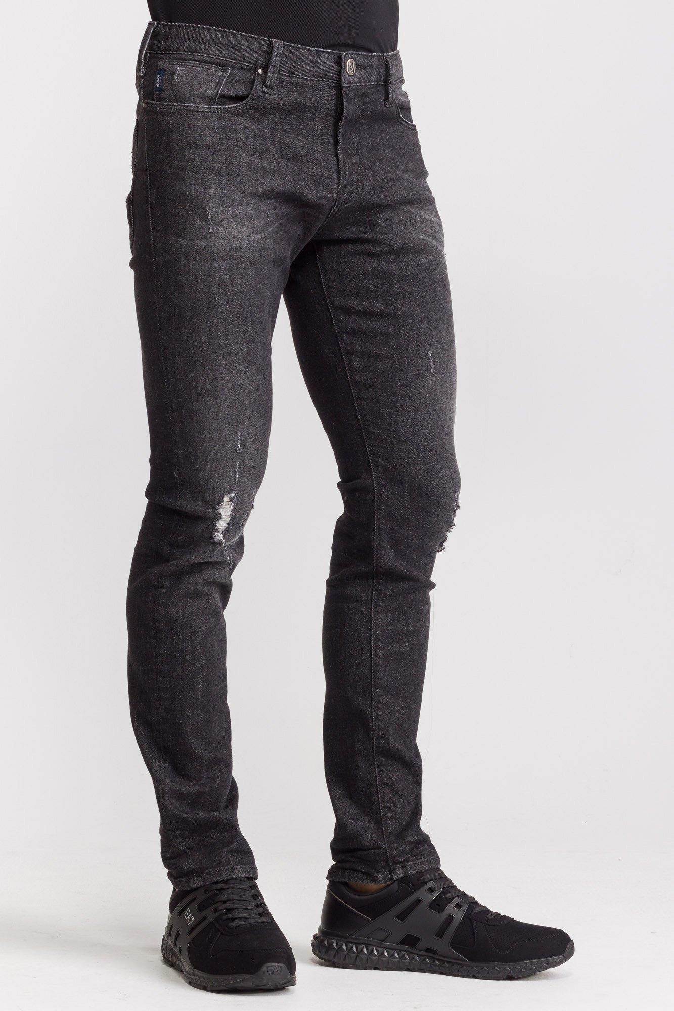 69a4d3327 Czarne jeansy męskie z przetarciami | Markowa odzież w sklepie Velpa.pl