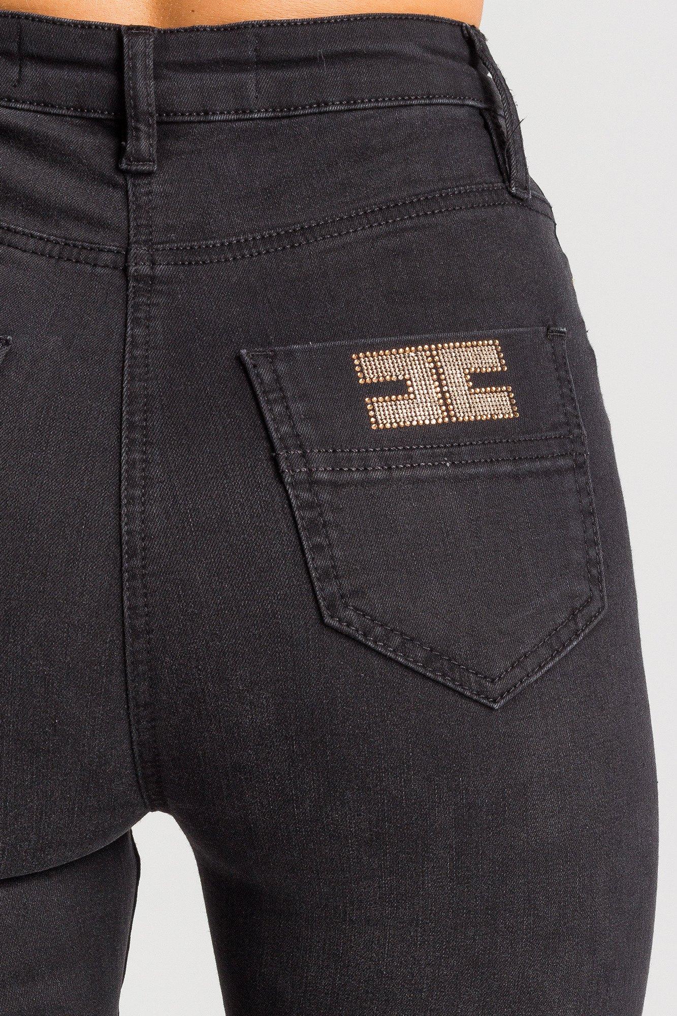 czarne jeansy rurki z wysokim stanem markowa odzież w