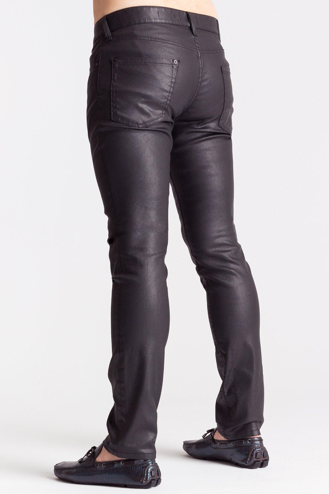 4a4676e75b8ef Czarne spodnie męskie z woskowanej bawełny | Markowa odzież w ...