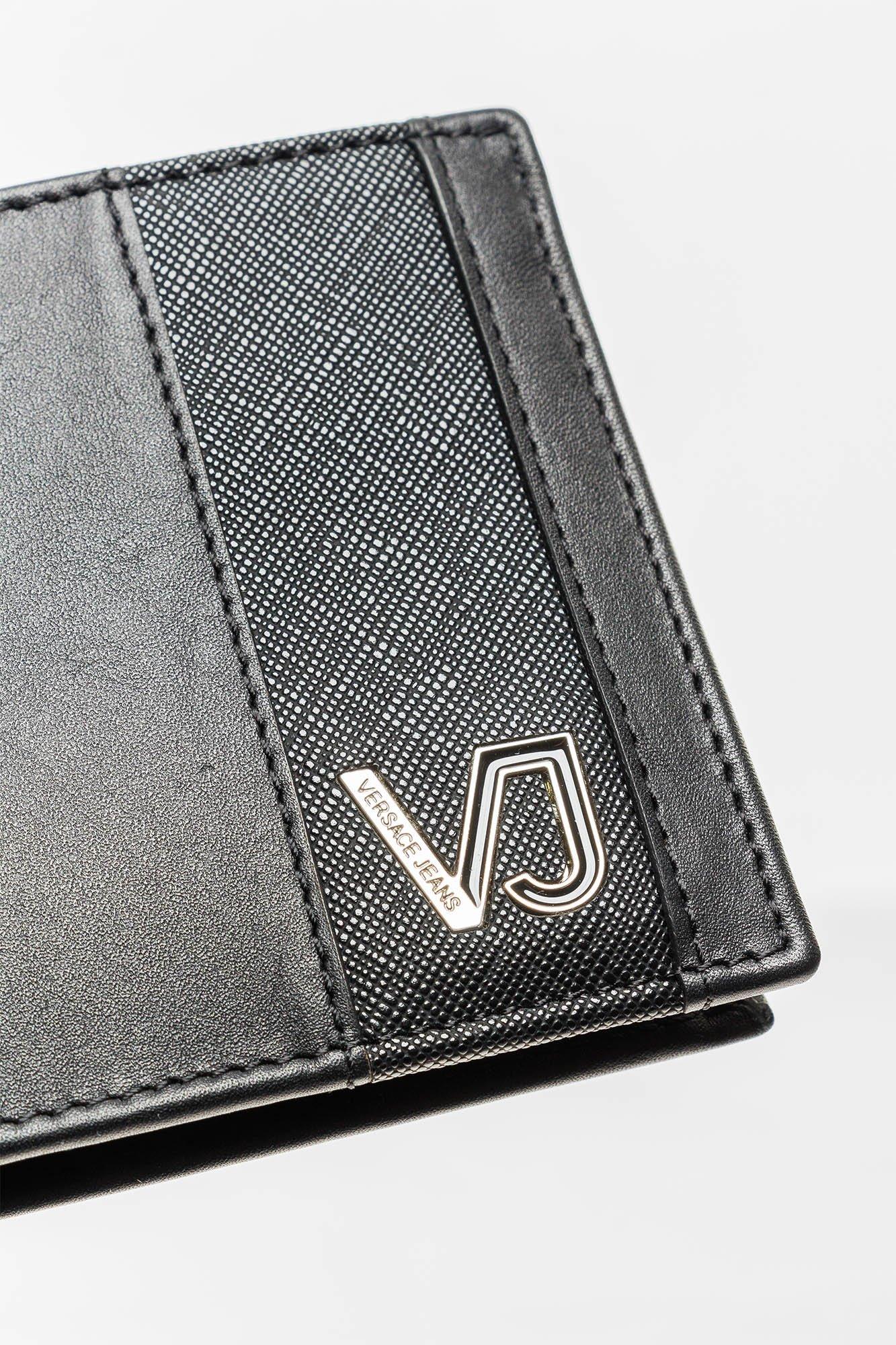 16ef4e32c77b2 Czarny portfel męski Versace Jeans z emblematem | Markowa odzież w ...