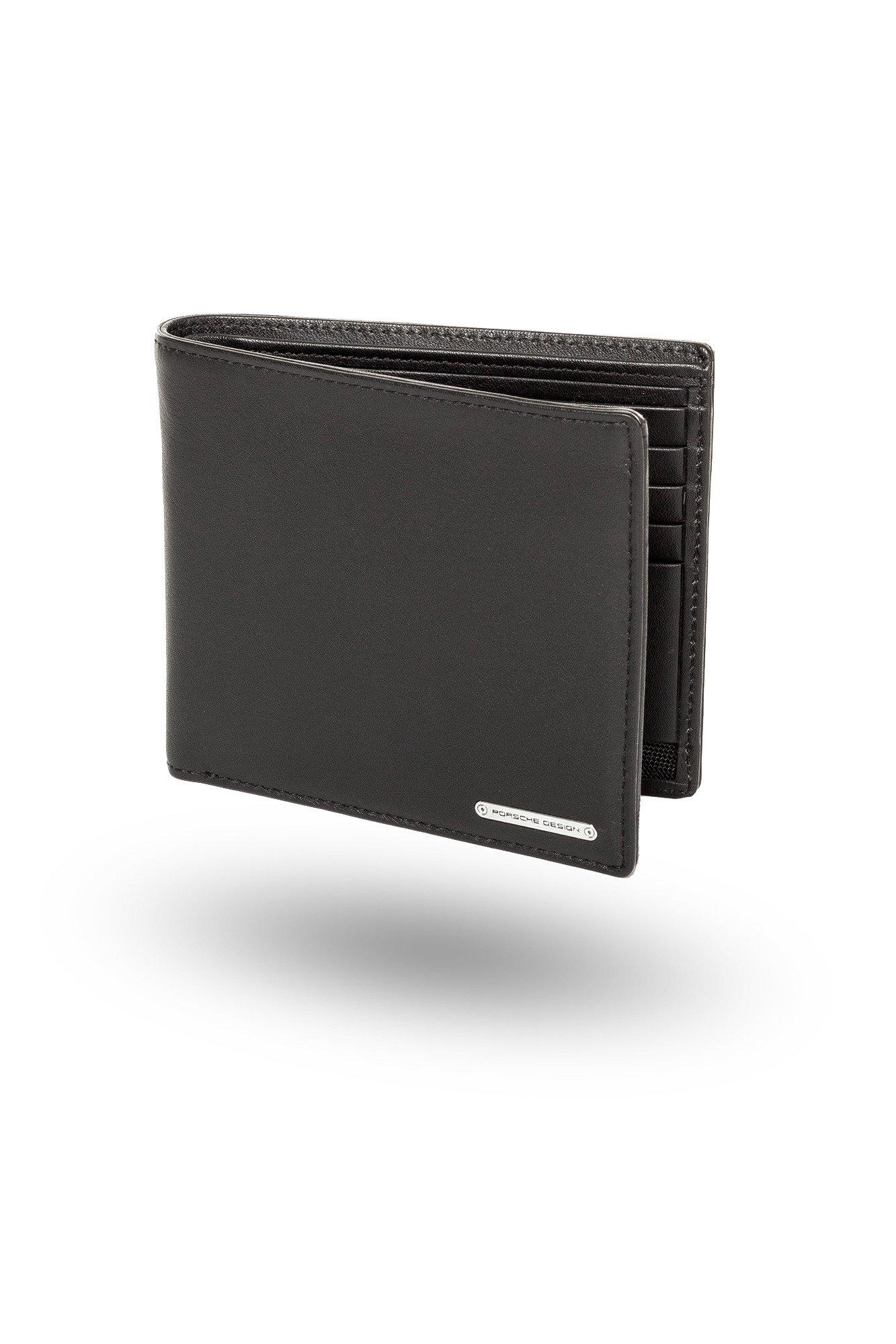 048992d63499a Czarny skórzany portfel męski  Czarny skórzany portfel męski ...