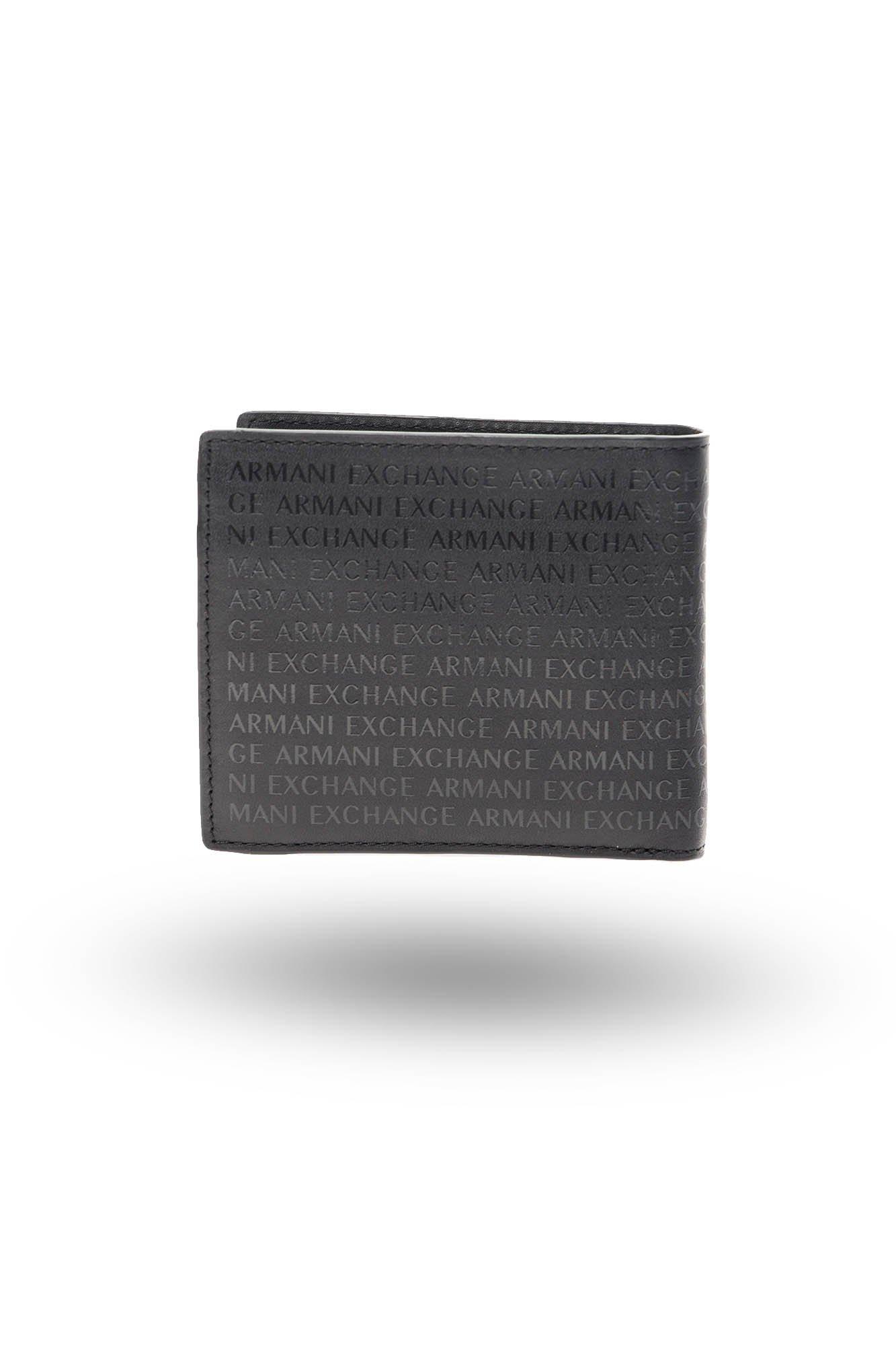 3a6a89986ad36 ... Czarny skórzany portfel męski Armani Exchange Bifold Coin Pocket ...