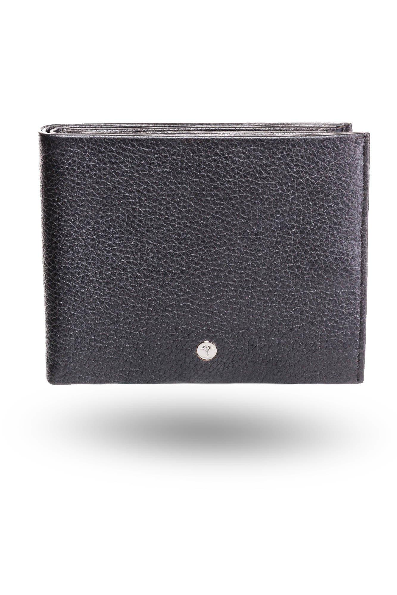 57865bbeab4ee Czarny skórzany portfel męski Minos BillFold H14 | Markowa odzież w ...