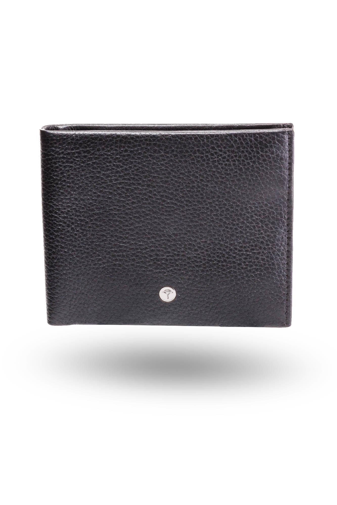 18690c44dcfce ... Czarny skórzany portfel męski Orestes Wallet H8 ...