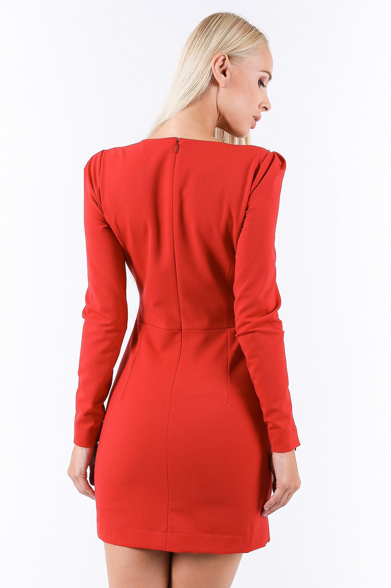 czerwona sukienka z d�ugim rękawem markowa odzież w