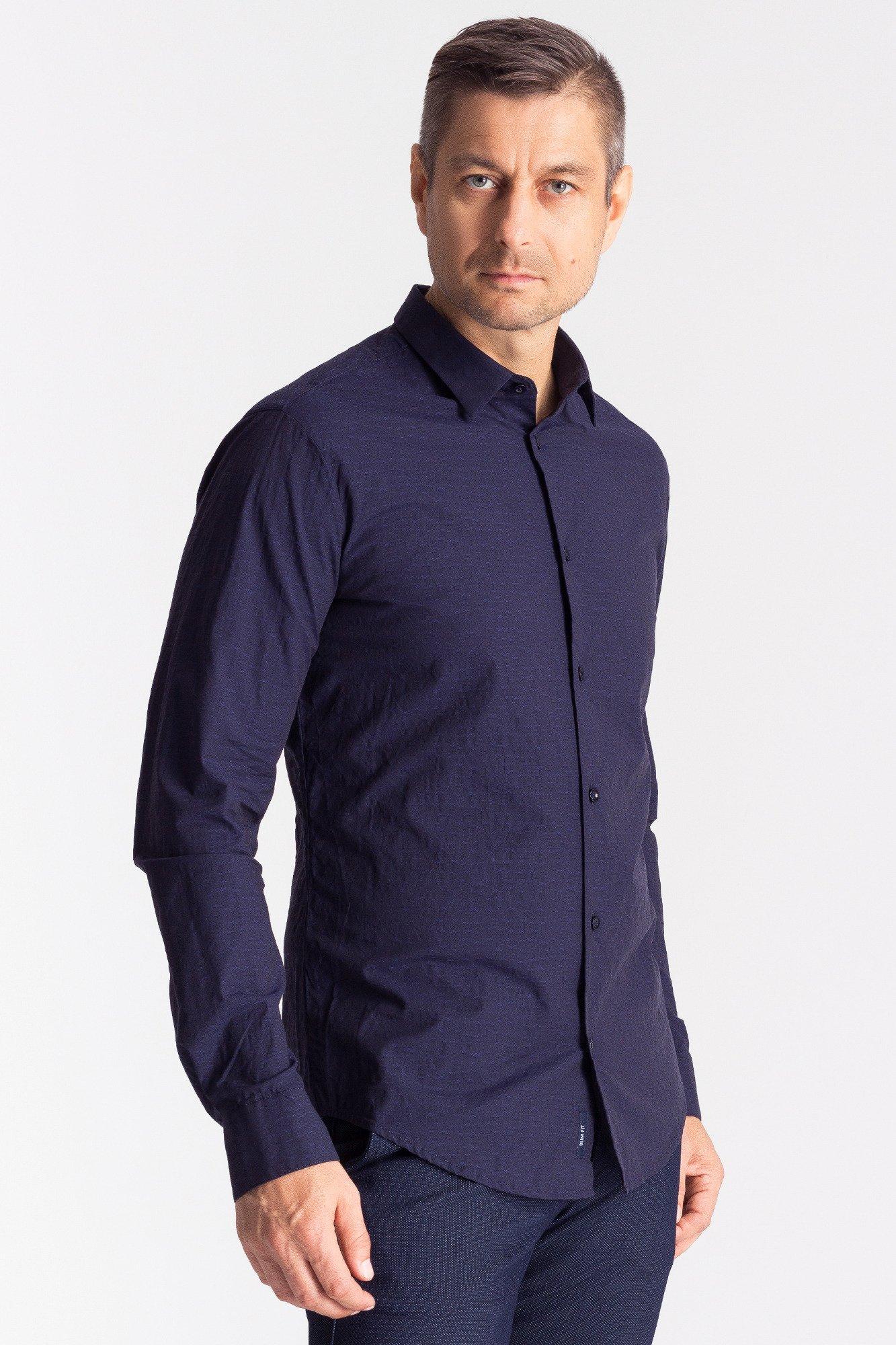 7bc15a0e1a5de Granatowa koszula męska ze wzorem  Granatowa koszula męska ze wzorem ...