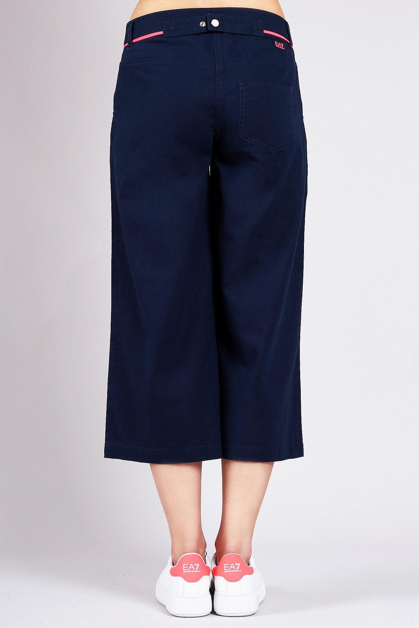1540638e9d84a0 Granatowe spodnie damskie o szerokich nogawkach | Markowa odzież w ...