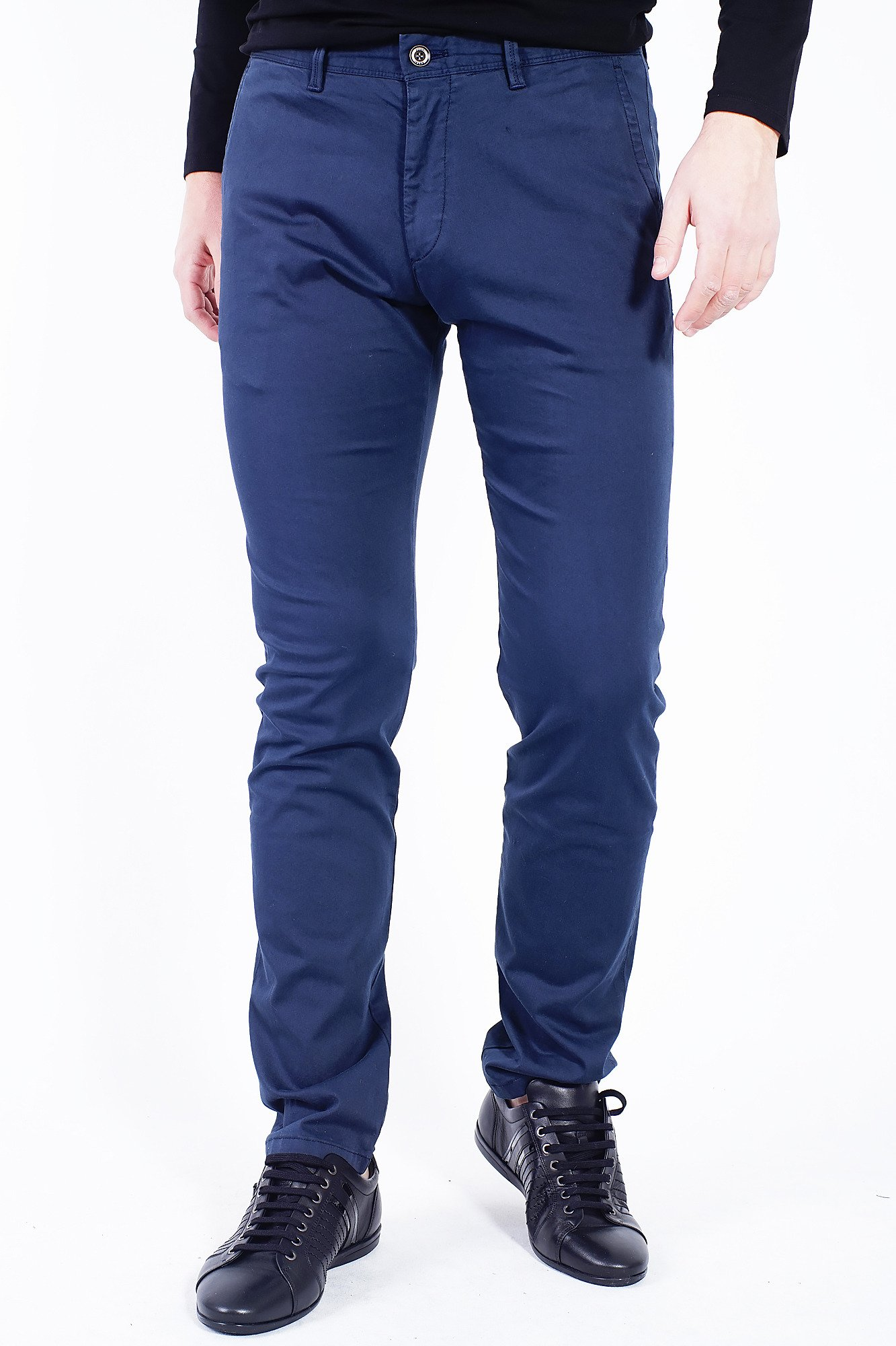 granatowe spodnie męskie markowa odzież w sklepie velpapl
