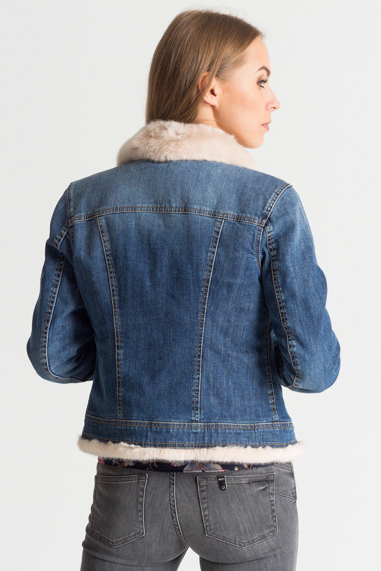 kurtka jeansowa calvin klein z futerkiem