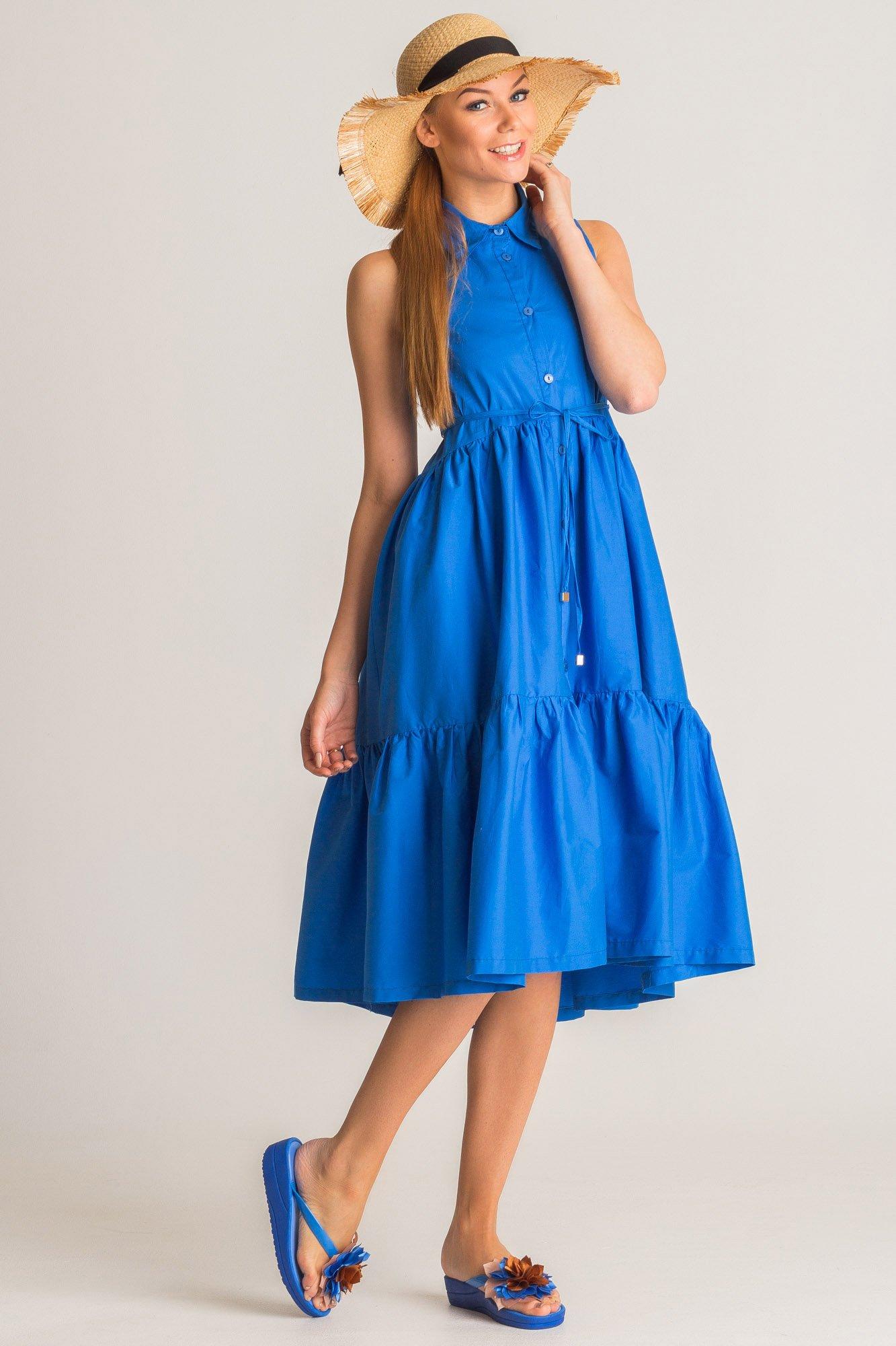 8c165cb935 ... Niebieska sukienka Twinset U B z kołnierzykiem ...