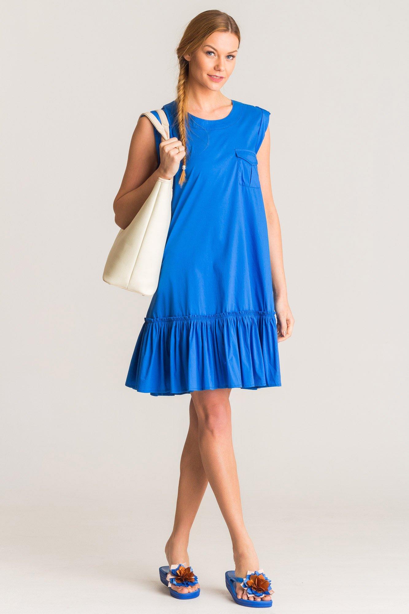 b445d2cadb Niebieska sukienka U B z kieszenią · Niebieska sukienka U B z kieszenią ...