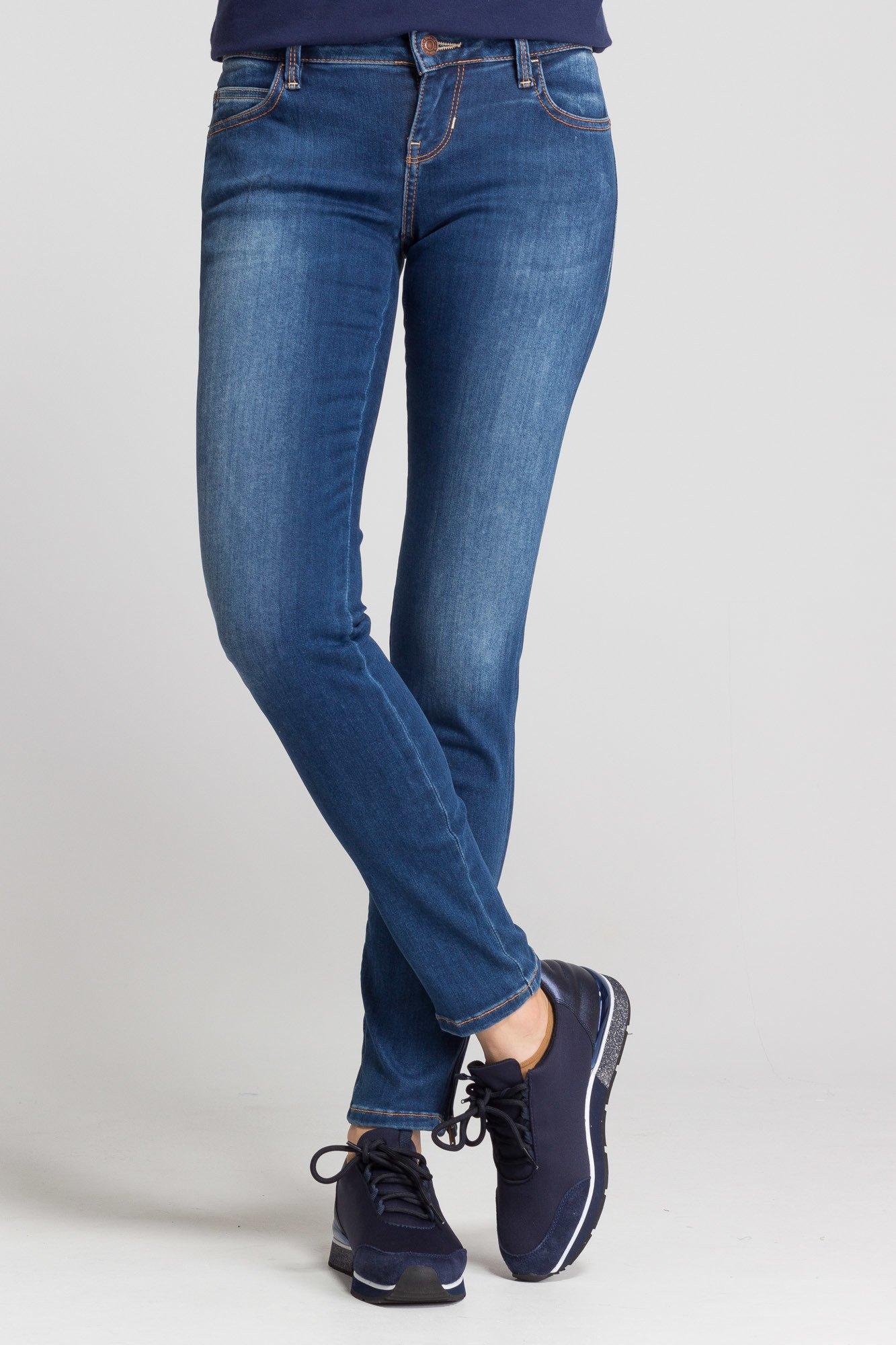 b1c2e9fa2fafec Niebieskie jeansy Marilyn 3 Zip Skinny Low | Markowa odzież w ...