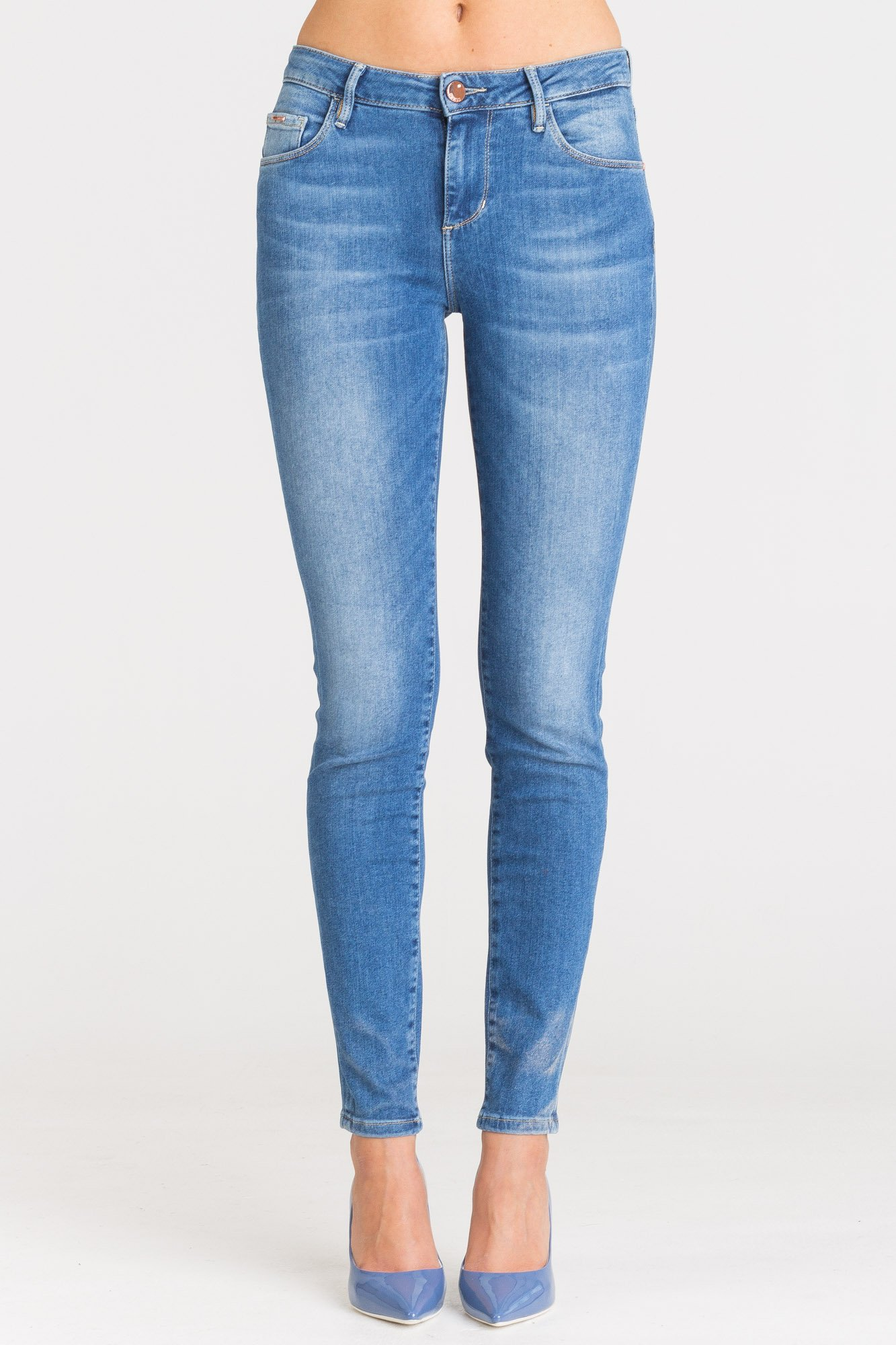 06ec3d495771f ... Niebieskie jeansy damskie Guess Annette Skinny High ...