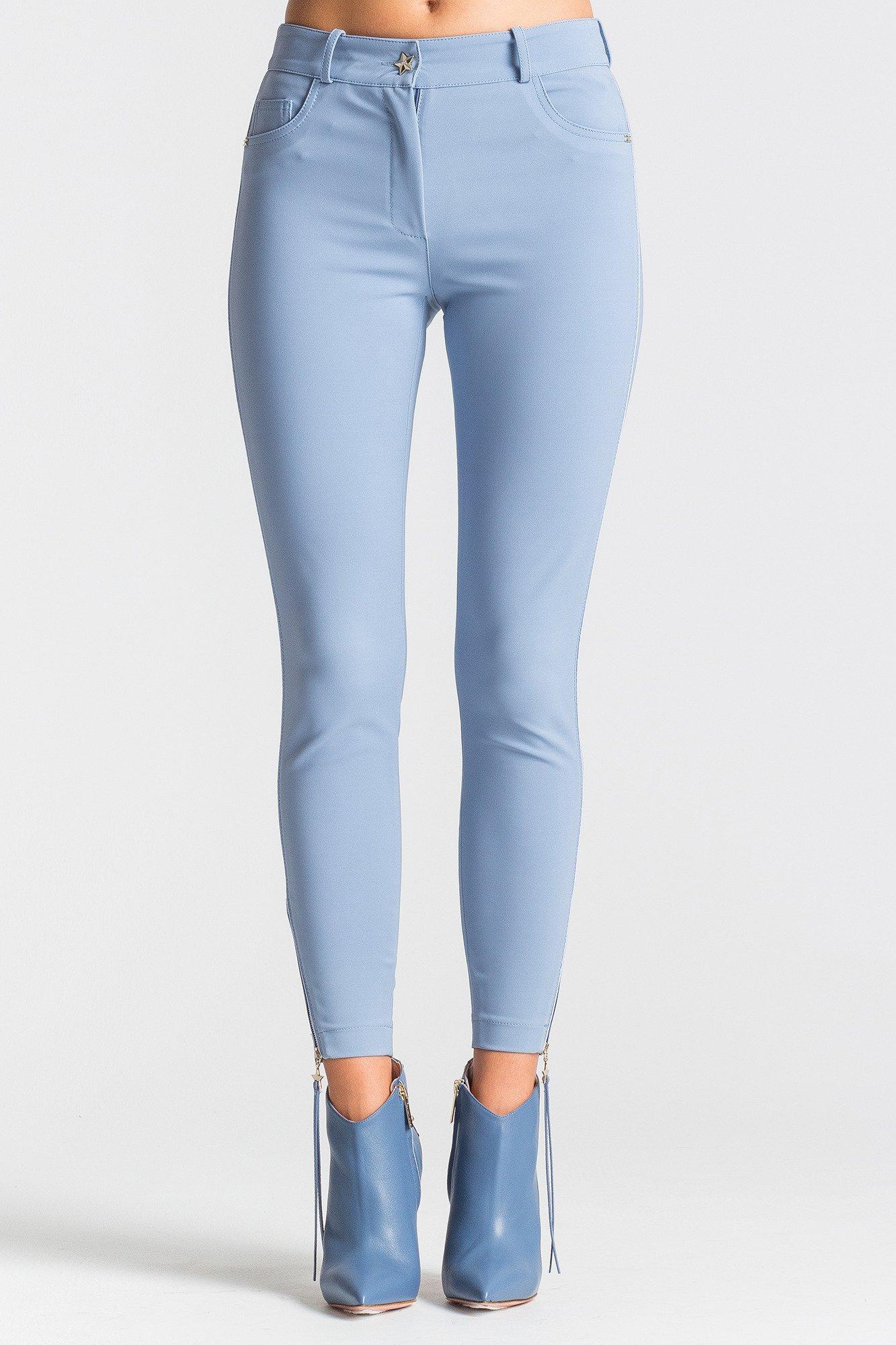 5eb39b46 Niebieskie spodnie damskie skinny fit
