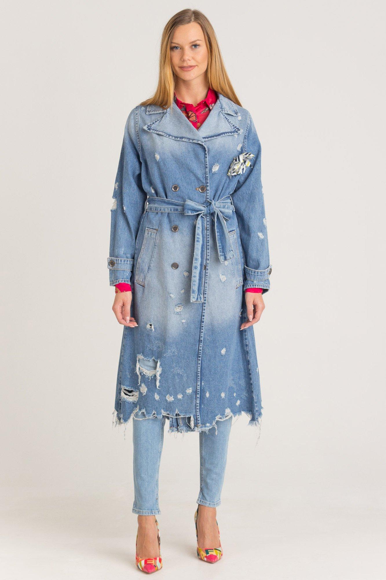 Płaszcz Jeansowy Marki Premium W Sklepie Velpa Pl