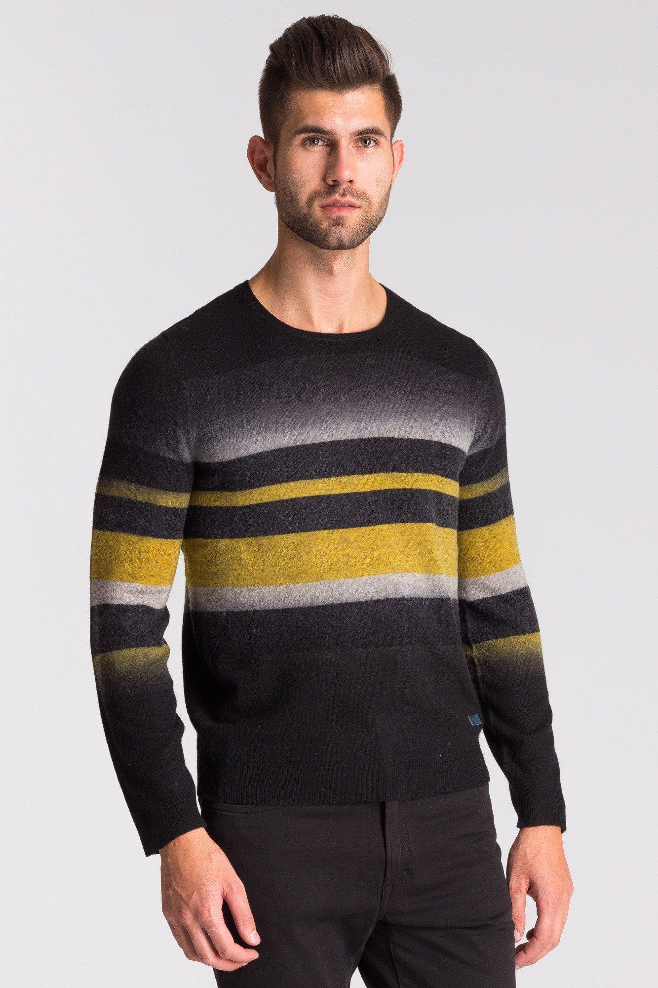 0758cf7cd206b ... Wielokolorowy sweter męski w paski ...