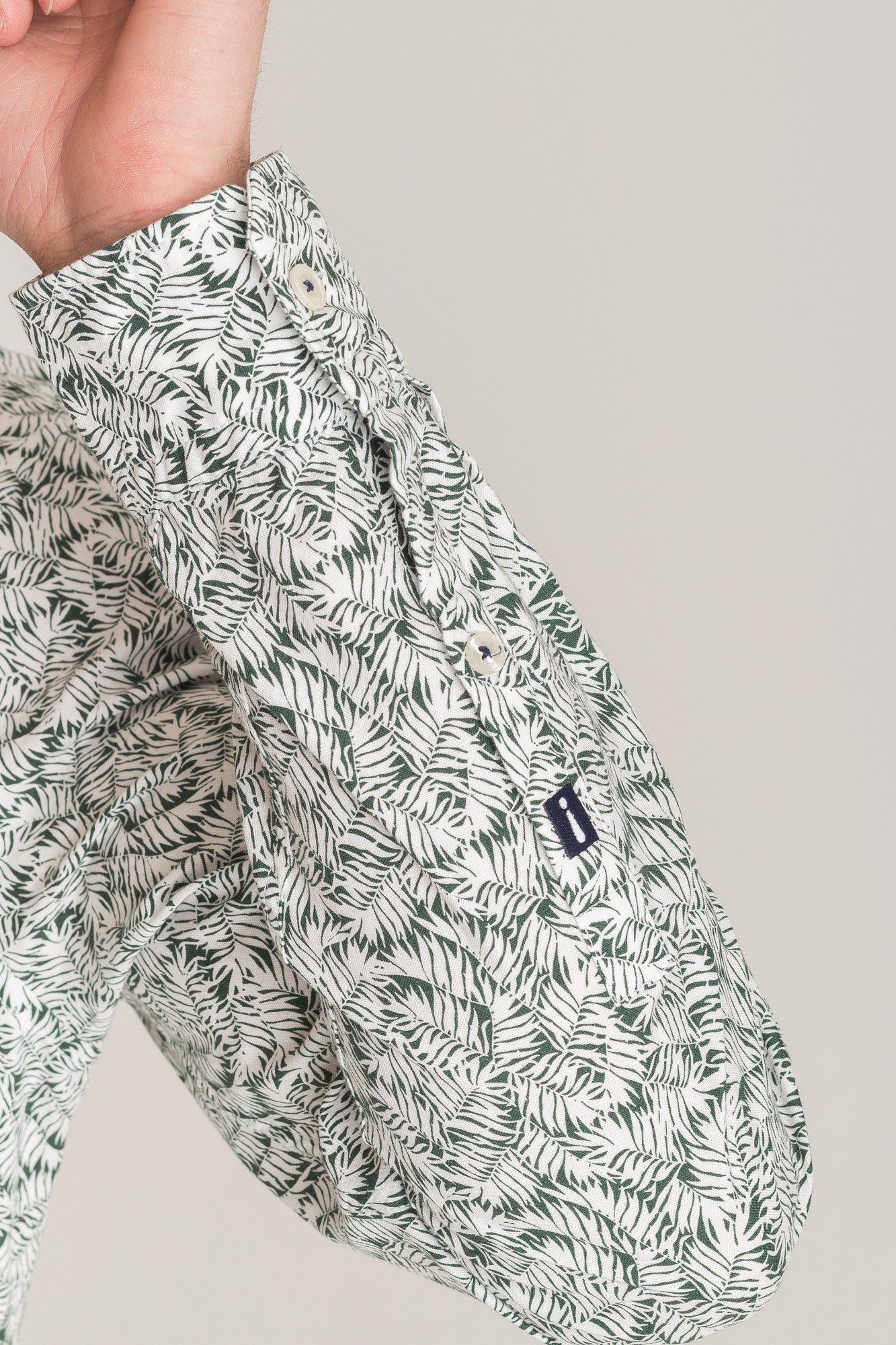 Zielona koszula Joop Hanjo z motywem tropikalnym | Marki  ckSgo